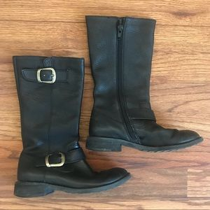 Girl Nordstrom Leather Boots 11.5